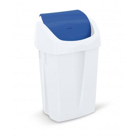 Koš za smeti z nihajočim pokrovom, bele barve, kapaciteta 25 lit.